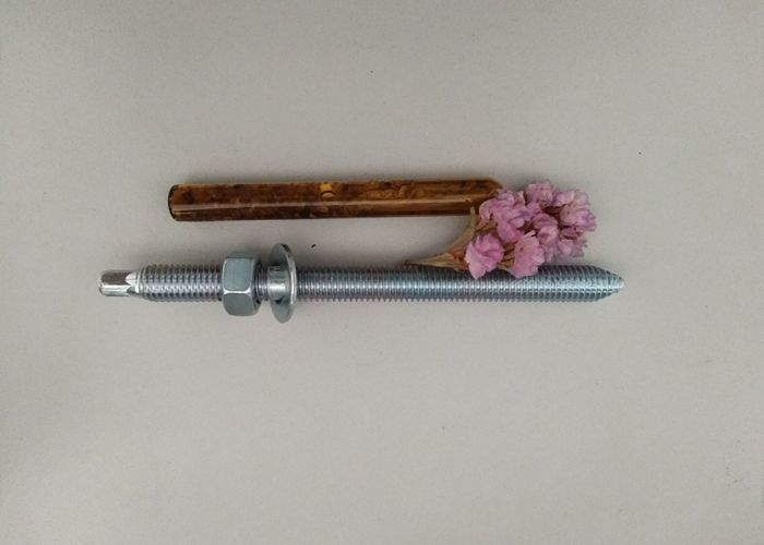 Carbon Steel Material M14 Chemial Anchor Bolt With Blue&White Zinc Color Fasteners
